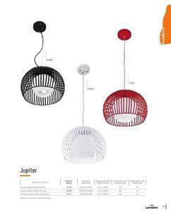 Dizajnová závesná lampa Jupiter A biela small 1