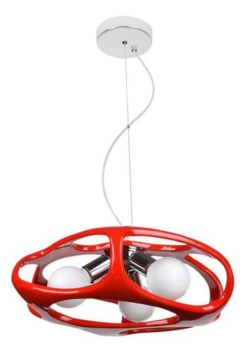 Moderná prívesková lampa Amano Red
