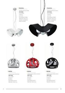 Dizajnová závesná lampa Akiba Black small 1