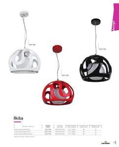 Dizajnová závesná lampa Akiba Black small 2