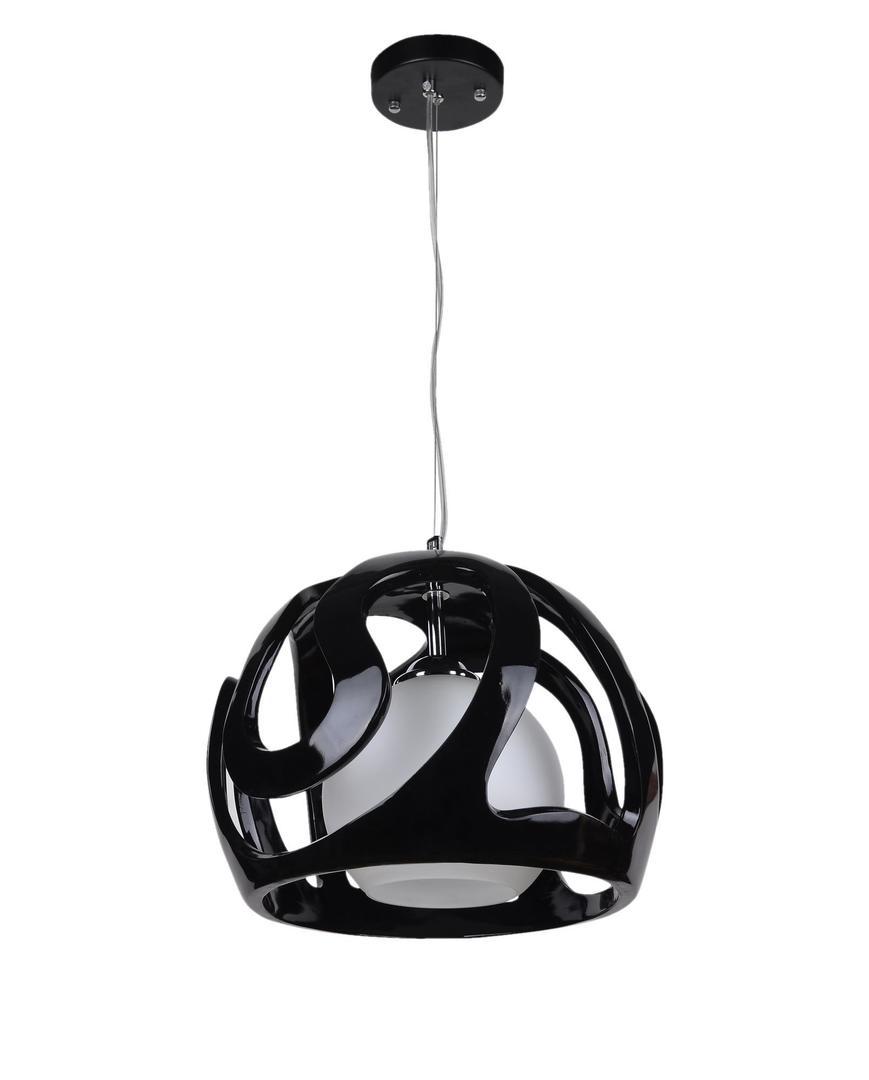 Dizajnová závesná lampa Akiba Black