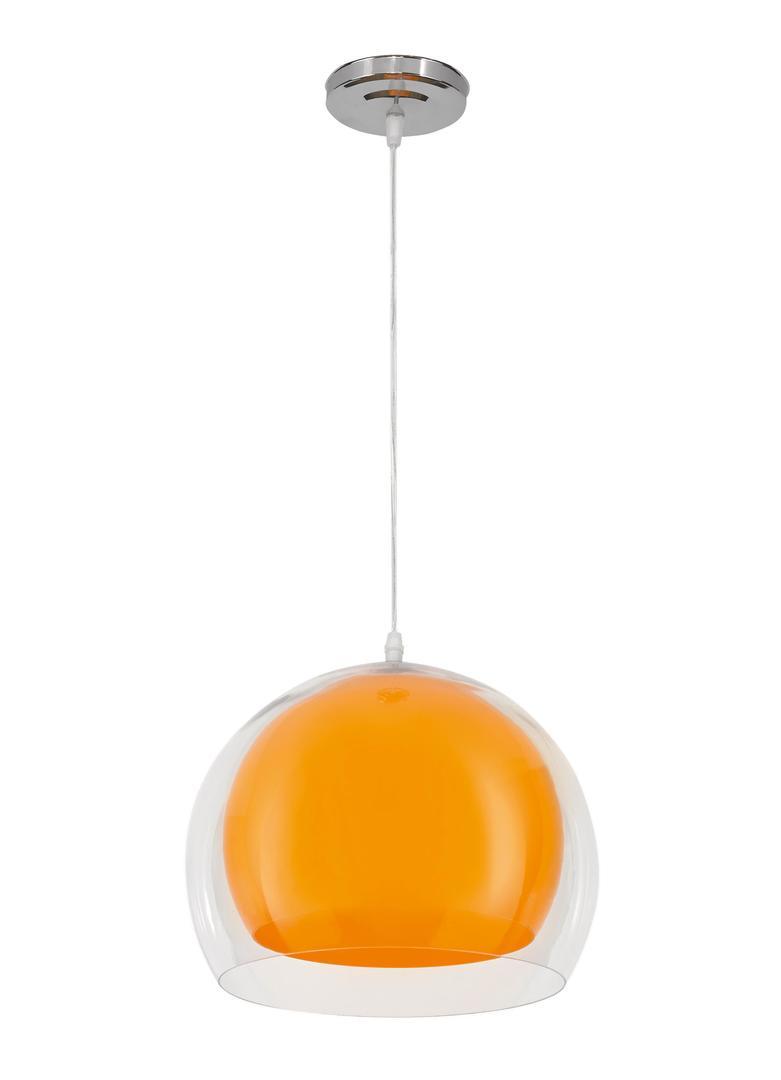 Dizajnová závesná lampa Malta Orange