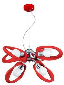 Dizajnový luster Emma 6 Red small 0