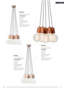 Moderná závesná lampa Woody 1 dub small 5