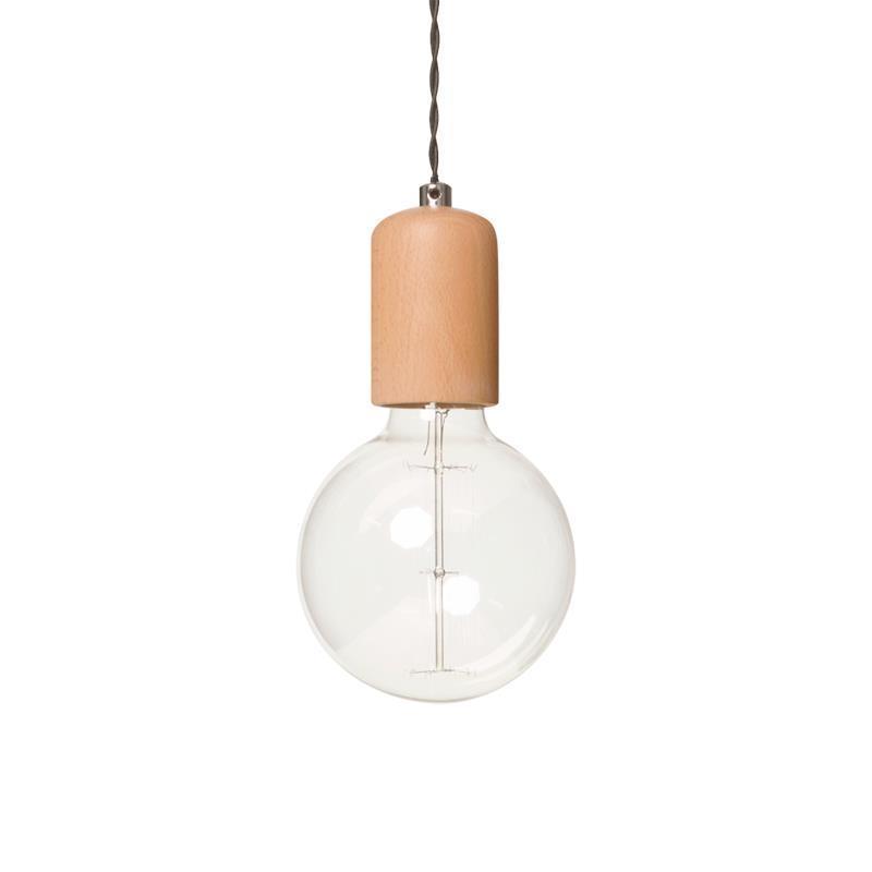 Moderná závesná lampa Woody 1 dub