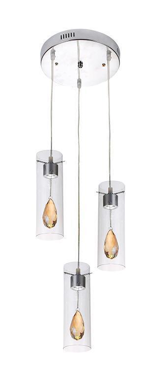 Dizajnová závesná lampa Deva 3 P