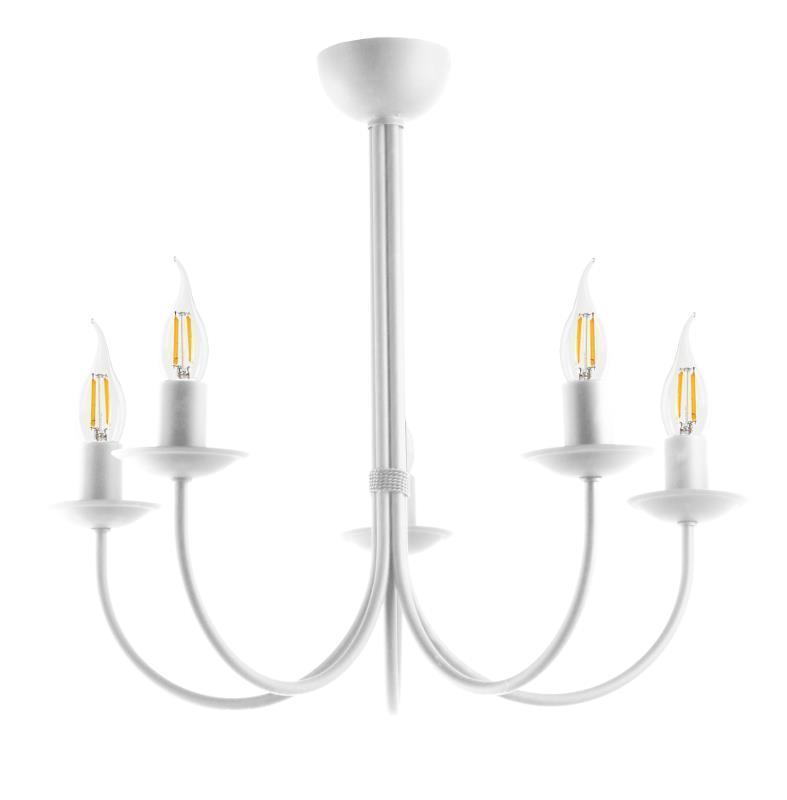 Moderné stropné svietidlo Samanta 5 biele