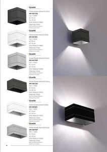 Dizajnová nástenná lampa Quado Deluxe A čierna small 5