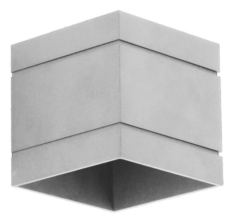 Moderné nástenné svietidlo Quado Deluxe A Grey