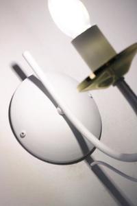 Dizajnová nástenná lampa Doli White small 3