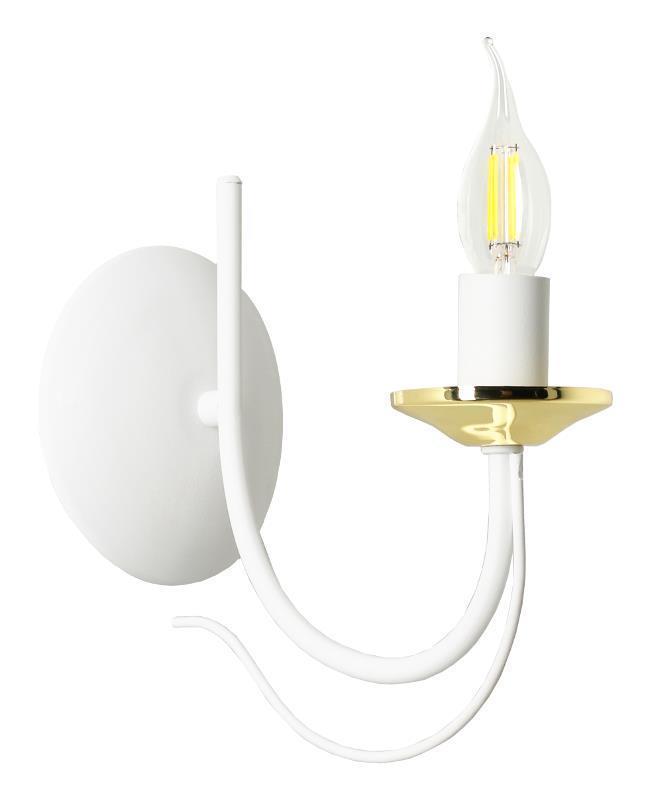 Dizajnová nástenná lampa Doli White