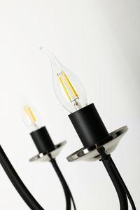 Dizajnový luster Nicoli 3 Black small 2