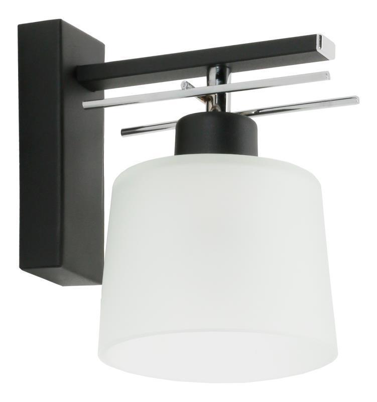 Klasické čierne nástenné svietidlo Olimp