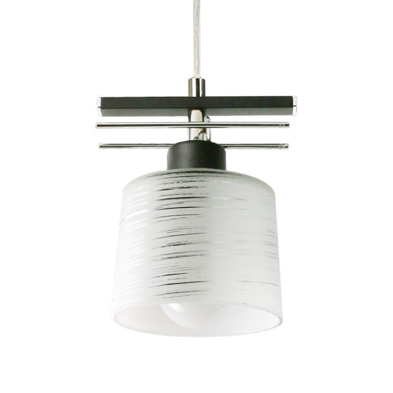 Klasická čierna závesná lampa Olimp 1