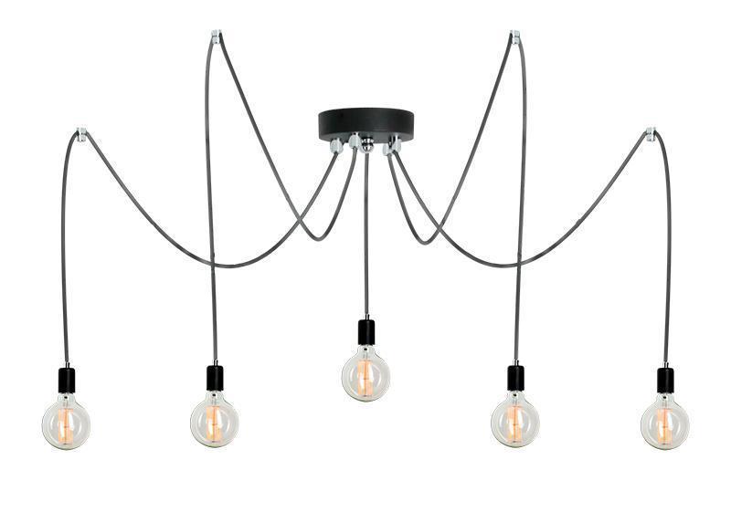 Dizajnová závesná lampa Ragno 5