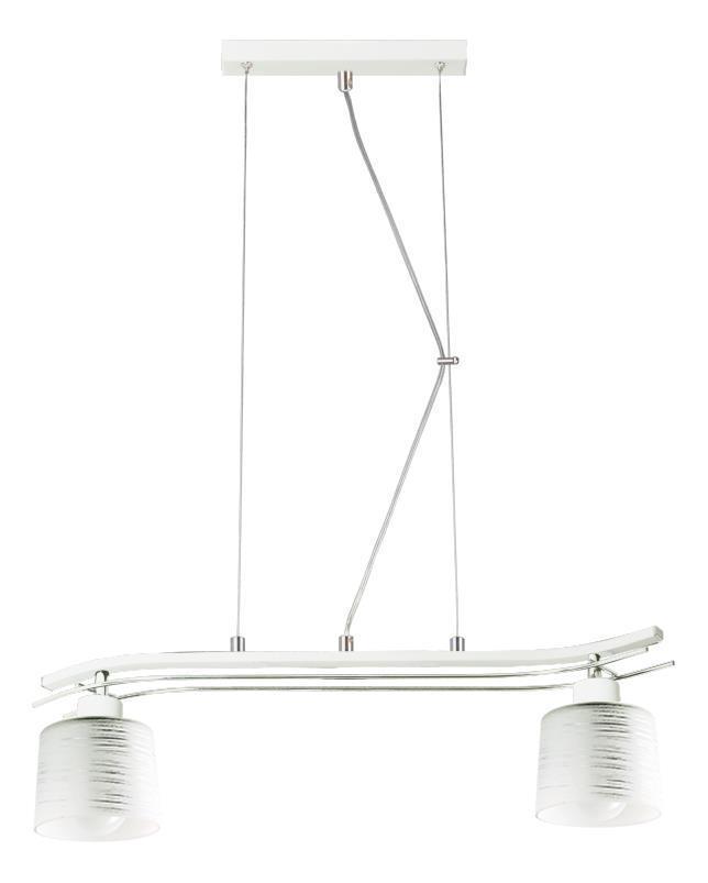Klasická závesná lampa Olimp 2 biela