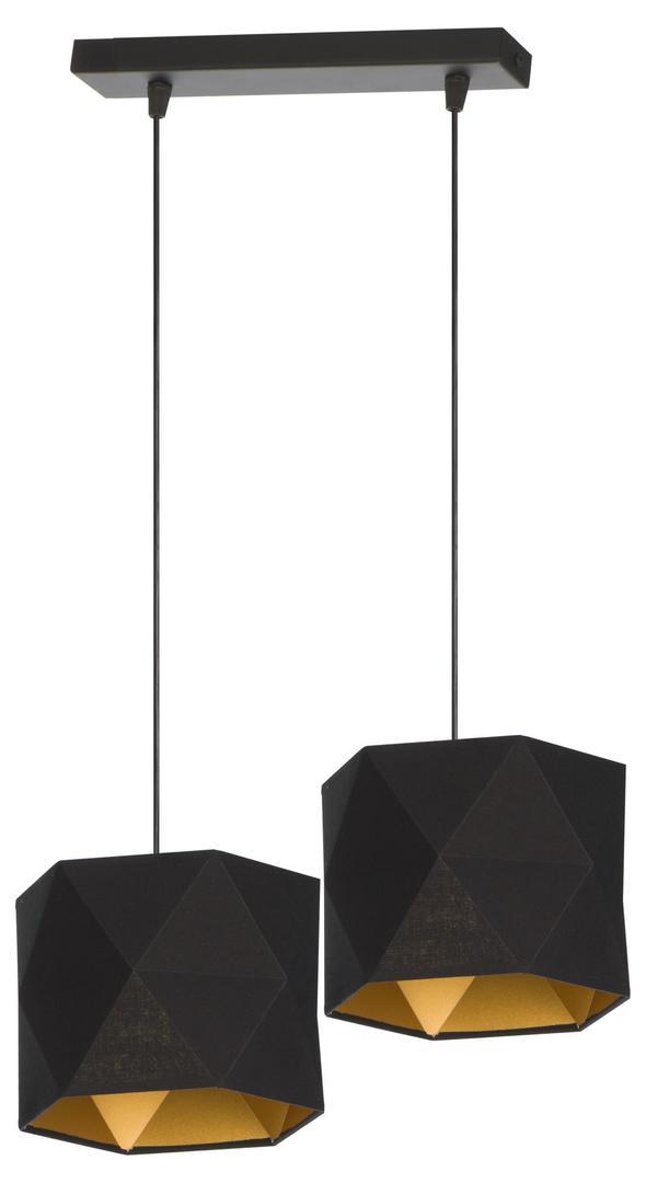 Klasická lampa s príveskom Taida 2 čierna
