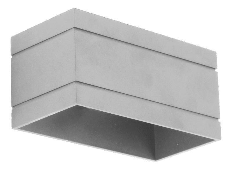 Moderné nástenné svietidlo Quado Deluxe B Grey