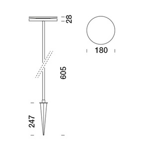 Prenosná lampa Platek - NAIL LED 3000K 93 ° small 10