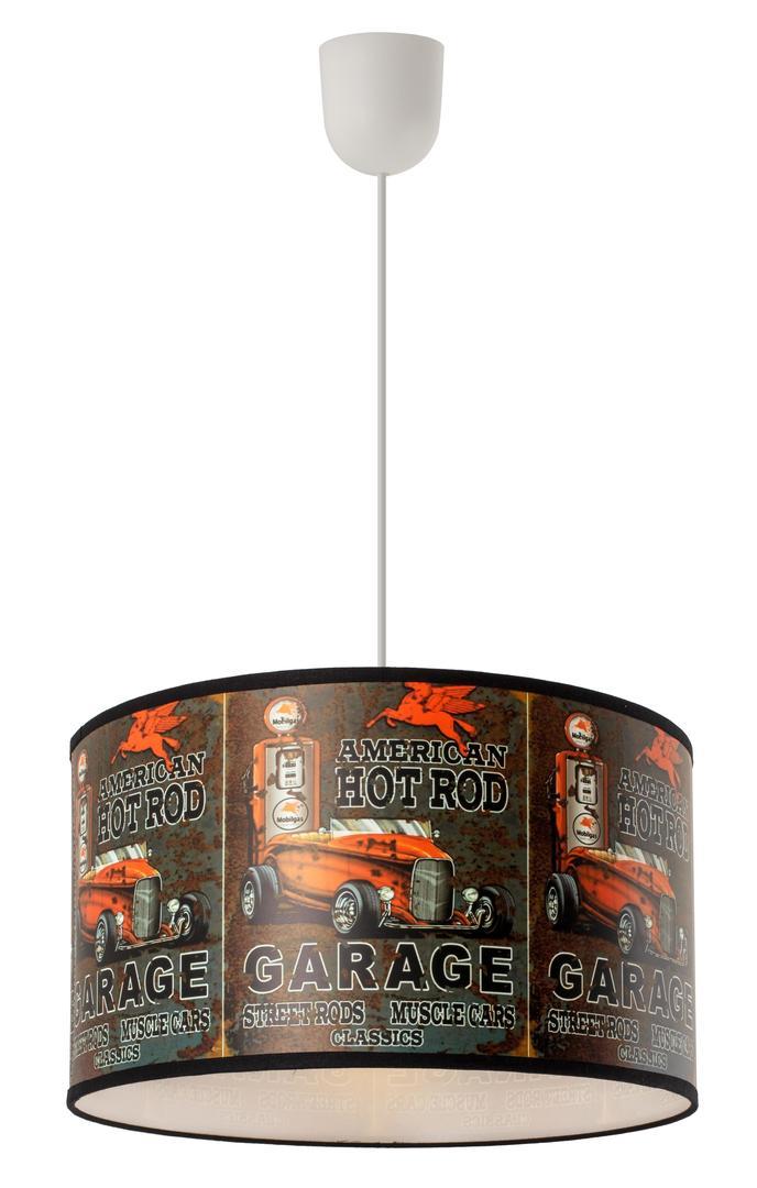 Závesná lampa pre detskú garáž Lampo