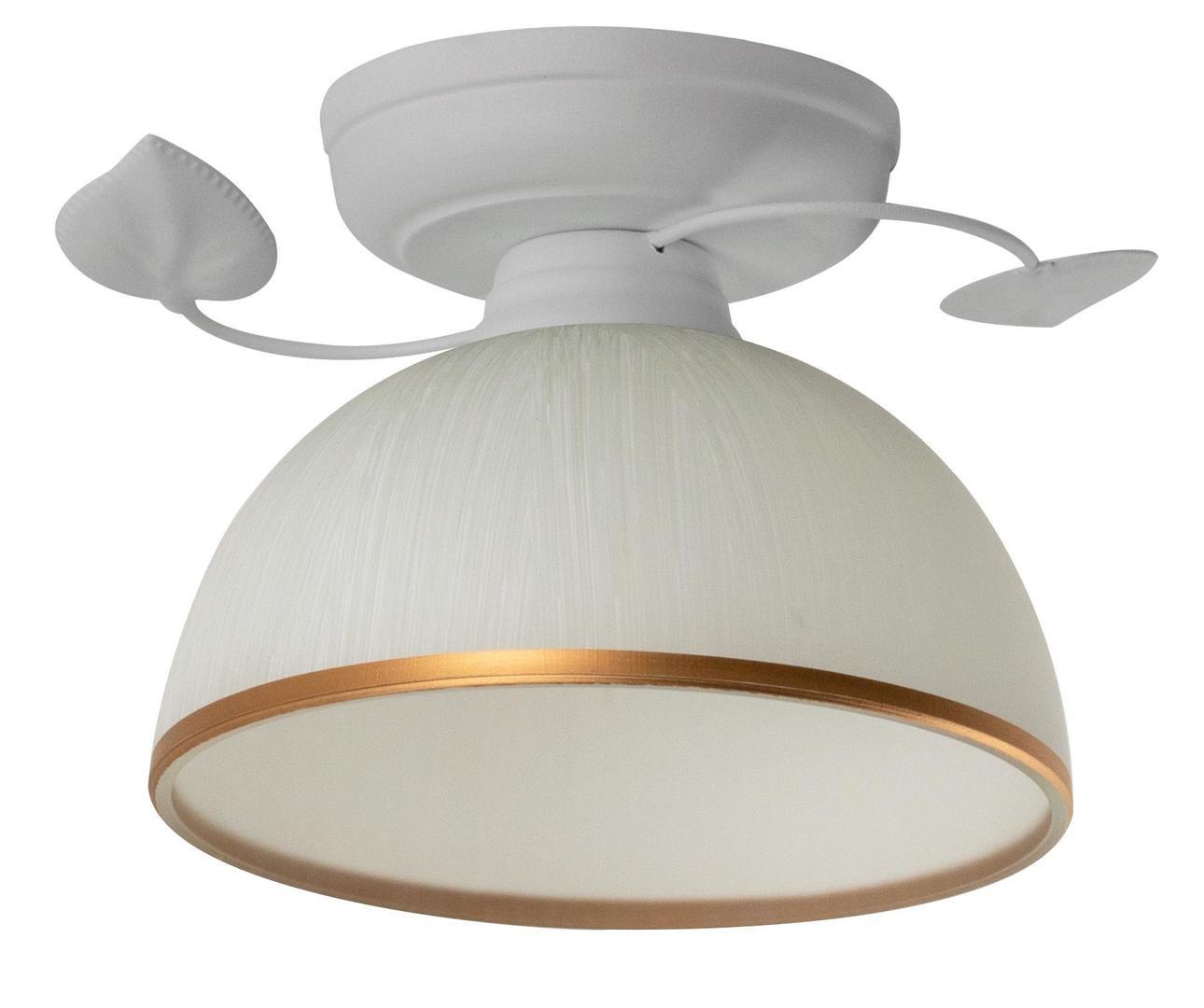 Retro stropné svietidlo Tanzania B biele