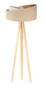 Stojacia lampa Crown 60W E27 velúr, béžová / biela small 3