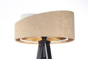 Stojacia lampa Crown 60W E27 velúr, béžová / biela small 7