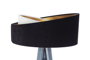 Moderné stojacie svietidlo Crown 60W E27 velúr, čierno / biele small 5
