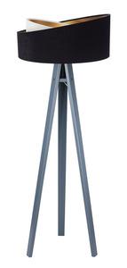 Moderné stojacie svietidlo Crown 60W E27 velúr, čierno / biele small 6