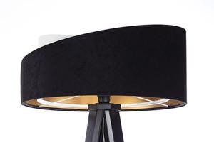 Moderné stojacie svietidlo Crown 60W E27 velúr, čierno / biele small 7