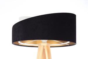 Moderné stojacie svietidlo Crown 60W E27 velúr, čierno / biele small 0