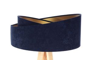 Stojacia lampa na čítanie Crown 60W E27 velúr, tmavomodrá / zlatá small 1