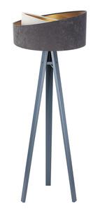 Lampa na statív Crown 60W E27 velúr, sivá / biela / zlatá small 6