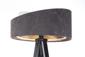 Lampa na statív Crown 60W E27 velúr, sivá / biela / zlatá small 7