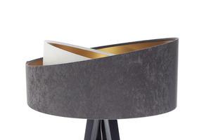 Lampa na statív Crown 60W E27 velúr, sivá / biela / zlatá small 8