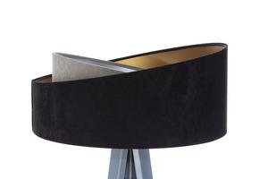 Stojacia lampa čierna Crown 60W E27 velúr, šedá / zlatá / strieborná small 4