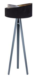 Stojacia lampa čierna Crown 60W E27 velúr, šedá / zlatá / strieborná small 6