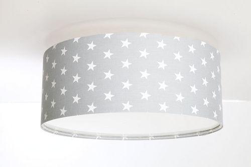 Šedé stropné svietidlo Luminance do detskej izby s LED žiarovkami E27 60W