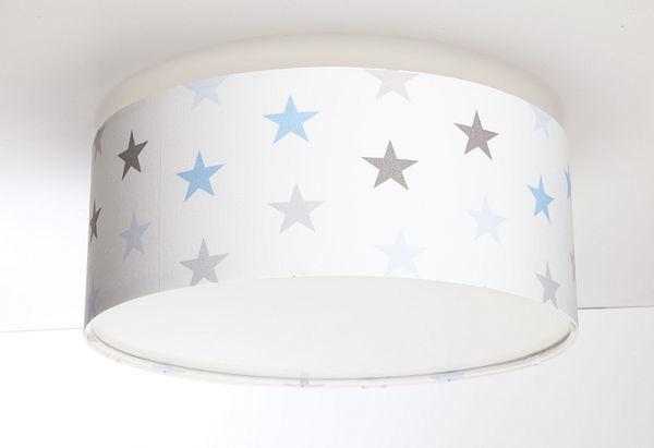 Luminance E27 60W LED stropné svietidlo pre chlapca s bielymi / sivými / modrými hviezdičkami