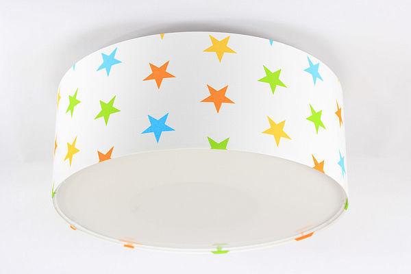 Detská lampa Luminance E27 60W LED biela / farebné hviezdy
