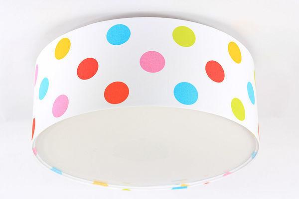 Detská lampa - stropné svietidlo LED s farebnými bodkami Luminance E27 60W