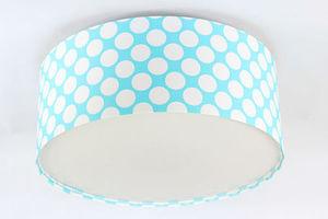 Luminance E27 60W LED modro / biela stropná lampa, bodky do detskej izby small 0