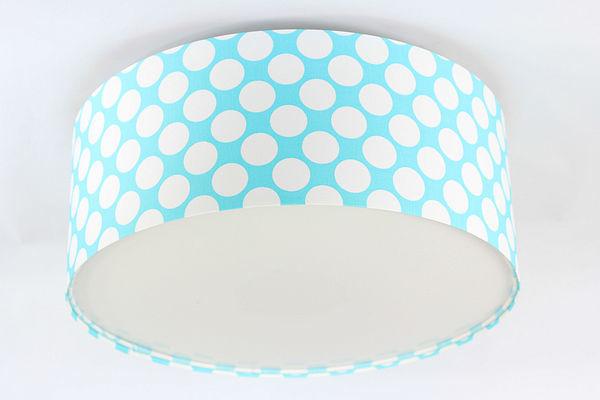 Luminance E27 60W LED modro / biela stropná lampa, bodky do detskej izby