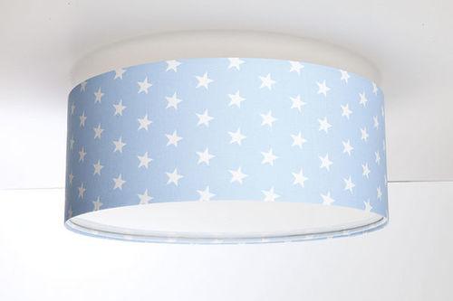 Stropné svietidlo do chlapčenskej izby - Luminance E27 60W LED práškové modro / biele stropné svietidlo