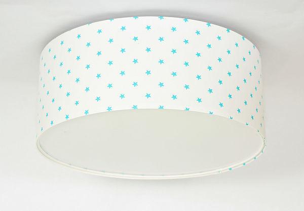 Luminance E27 60W LED biela / modrá LED stropná lampa pre deti