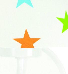 Nástenná lampa pre deti Raggio E27 60W drevo / kov, farebné hviezdičky small 1