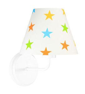 Nástenná lampa pre deti Raggio E27 60W drevo / kov, farebné hviezdičky small 3