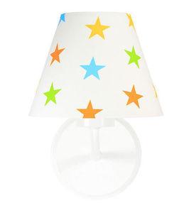 Nástenná lampa pre deti Raggio E27 60W drevo / kov, farebné hviezdičky small 0