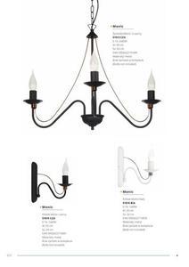 Klasická nástenná lampa Monic White small 1