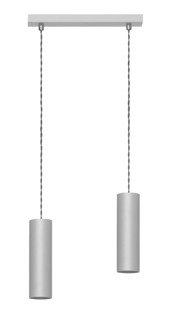 Moderná závesná lampa Rollg 2 šedá